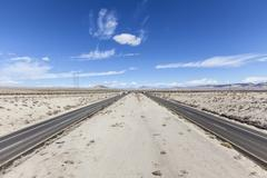 Interstate 15 between Los Angeles and Las Vegas Stock Photos