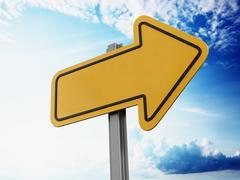 Savings ahead signboard - stock illustration