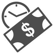 Rent Recurring Payment Flat Icon - stock illustration