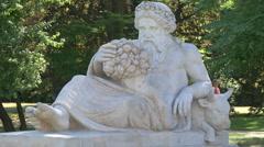 Dionysus statue in Lazienki Park, Warsaw Stock Footage
