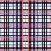 Contrast seamless tartan rectangular texture - stock illustration