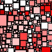 Red and pink colour squares on a black background. Stock Illustration