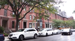 Boston newbury st red brick buildings Stock Footage