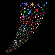 Stock Illustration of Sparkle Star Salute