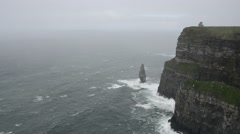 Cliffs of Moher, Ireland - stock footage