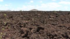 Chyulu Hills lava fields view Stock Footage