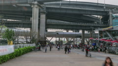 Seoul City Subway Station Waterfront Park Stock Footage