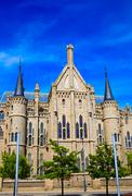 Stock Photo of Astorga Leon Palacio Episcopal of Antoni Gaudi