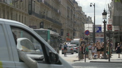 Driving on Rue Pierre Charron in Paris Stock Footage