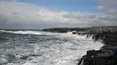 Burren Coast, Ireland Stock Footage
