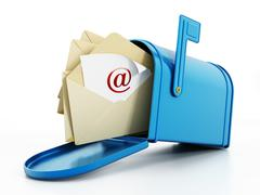 Mailbox full of mail - stock illustration
