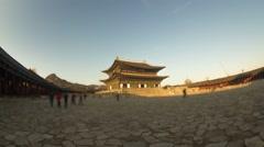 Seoul City Gyeongbokgung Palace Time lapse Stock Footage
