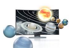 3D TV concept - stock illustration