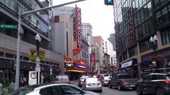 Boston paramount theater Stock Footage