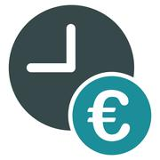 Euro Recurring Payments Flat Icon - stock illustration