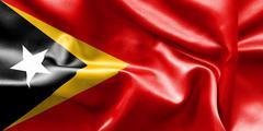 East Timor Flag Stock Illustration