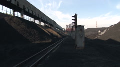 Rails and coal Stock Footage