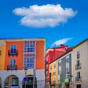 Burgos Street Santander arcades Castilla Spain Stock Photos