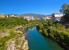 Stock Photo of Cityscape of Mostar - Bosnia and Herzegovina