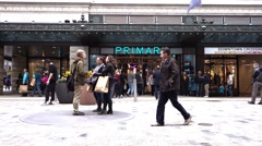 Boston primark retail department store, first primark in the US Stock Footage