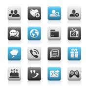 Social Communications Icons - Matte Series - stock illustration