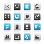 Telecommunications Icons - Matte Series Stock Illustration