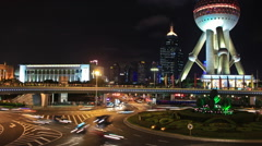 Shanghai Pudong Area Stock Footage