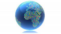 Globe seamless rotating Stock Footage
