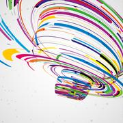 Stock Illustration of Futuristic abstract shape illustration