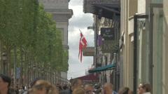 Marks & Spencer and Jeff de Bruges stores on Avenue des Champs-Elysees, Paris Stock Footage