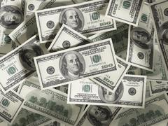 Dollar stack - stock illustration