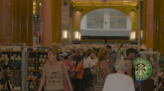 The corridor of Arcade des Champs-Elysees on Avenue des Champs-Elysees, Paris - stock footage