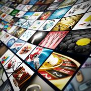 Video wall - all images are from my own portfolio Stock Illustration