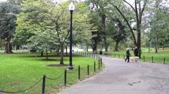 Boston public garden trail Stock Footage