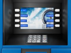 ATM Automated Teller Machine Stock Illustration