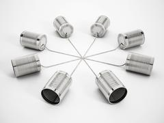 Tin can phone network Stock Illustration