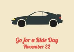 Stock Illustration of Poster for Go for a Ride Day (November 22)