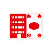 Stylish sticker on paper House and money Stock Illustration