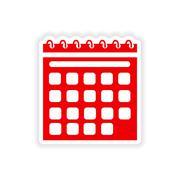 Icon sticker realistic design on paper calendar Stock Illustration