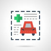 Insurance document flat color vector icon Stock Illustration