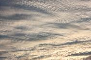 Stock Photo of Altocumulus clouds in evening sky