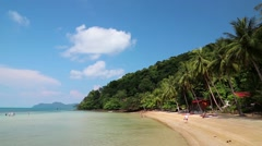 Beautiful view of the Koh Wai island, Thailand Stock Footage