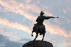 Monument to Bogdan Khmelnytsky in Kyiv, Ukraine - stock photo