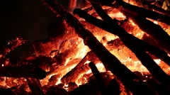 Flames of bonfire - stock footage
