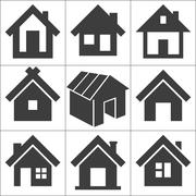 house icon, vector illustration - stock illustration