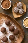 Stock Photo of Coconut Rum Balls