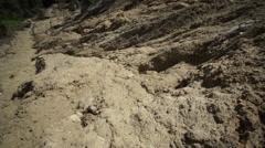 Clay Soil Landslide Tilt Up - stock footage