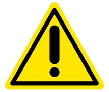 Vector warning attention sign Stock Illustration