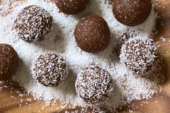 Coconut Rum Balls - stock photo