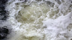 Foamy water of waterfall Stock Footage